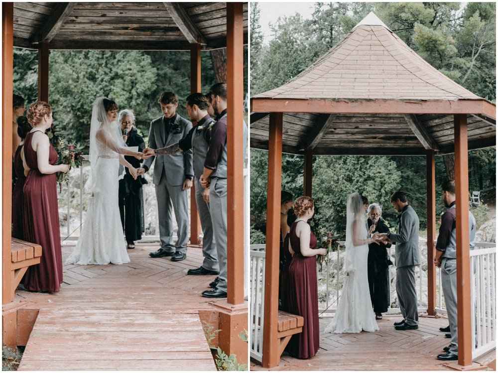 Intimate forest wedding at Lester River in Duluth MN