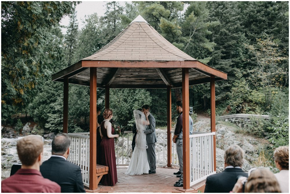 Intimate wedding in the woods at Lester River in Duluth MN