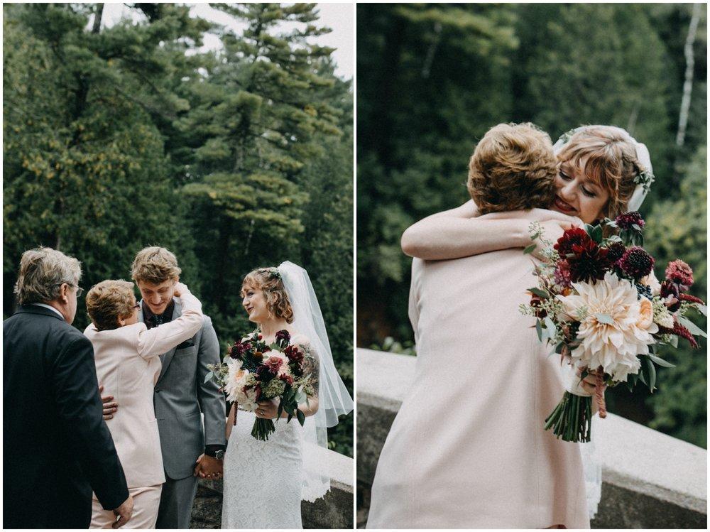 Emotional wedding at Lester River in Duluth Minnesota