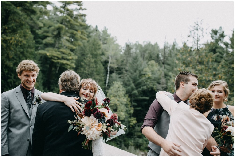 Documentary wedding photography at Lester River wedding in Duluth MN