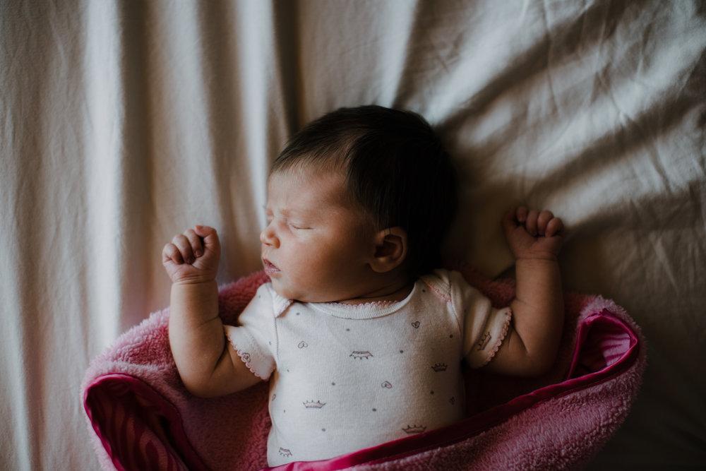 Lifestyle newborn session at home in Brainerd Minnesota