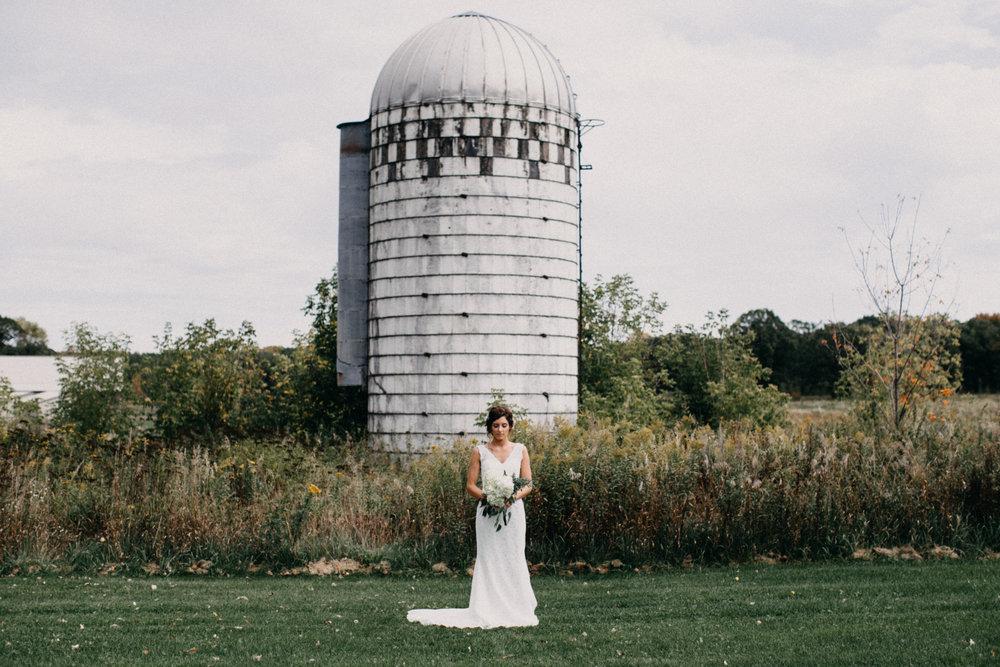 Intimate farm wedding in Brainerd Minnesota