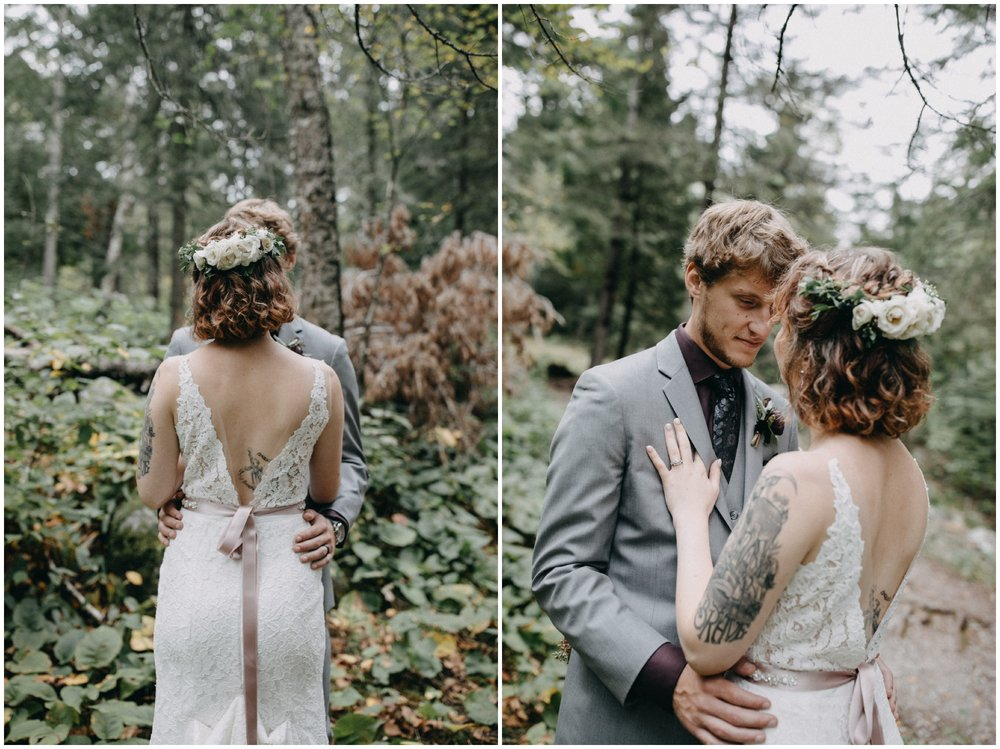 Romantic wedding in the woods at Lester Park