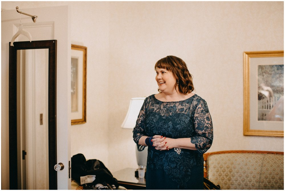 Mother of the bride at St Paul College club wedding
