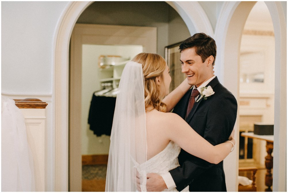 Genuine emotions captured on wedding day at the St Paul College Club