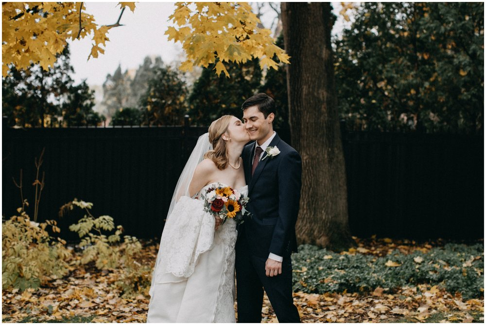 October wedding at the St Paul College Club