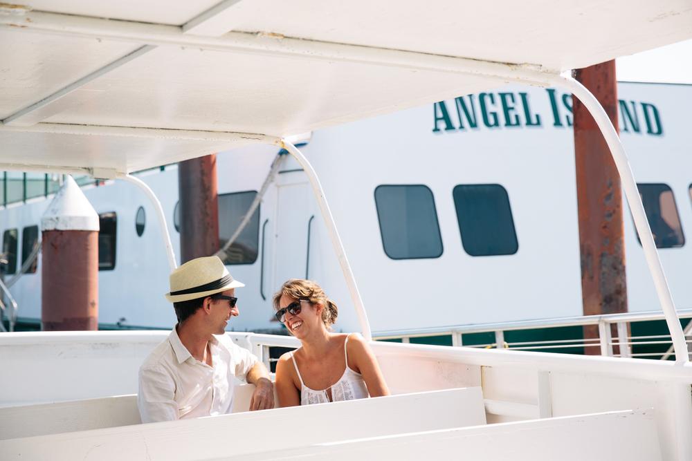 Hop on board the Angel Island Ferry.