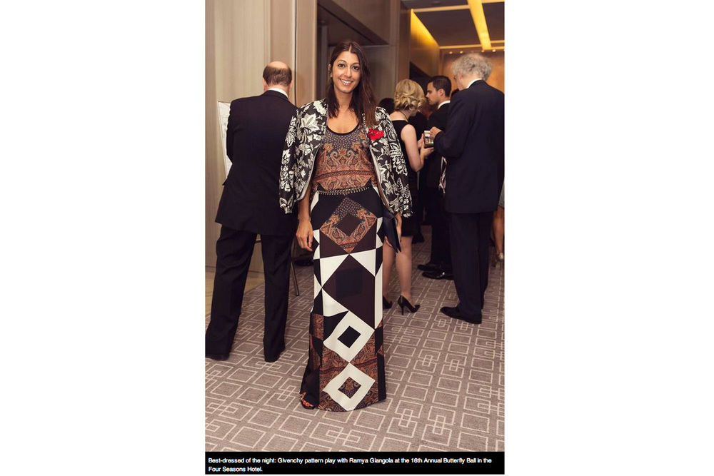 "The Globe & Mail  [ ""Best Dressed of the Night"" ]"