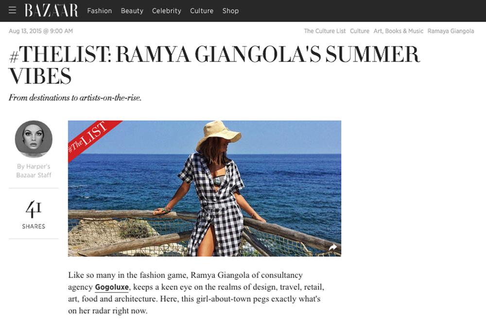 Harper's Bazaar |  Feature