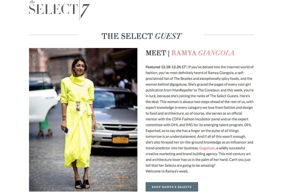 The Select 7   | Feature