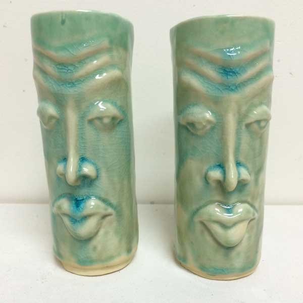 """Tiki"" Mugs   The gnomes of the island love a good, fruity drink, and these are the cups to enjoy them out of.  Most of our designs are produced in extremely limited batches."
