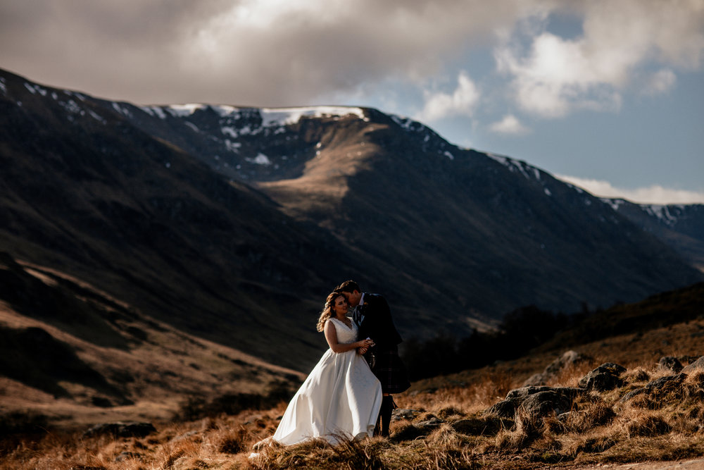 elopement wedding photography glencoe highlands scotlands