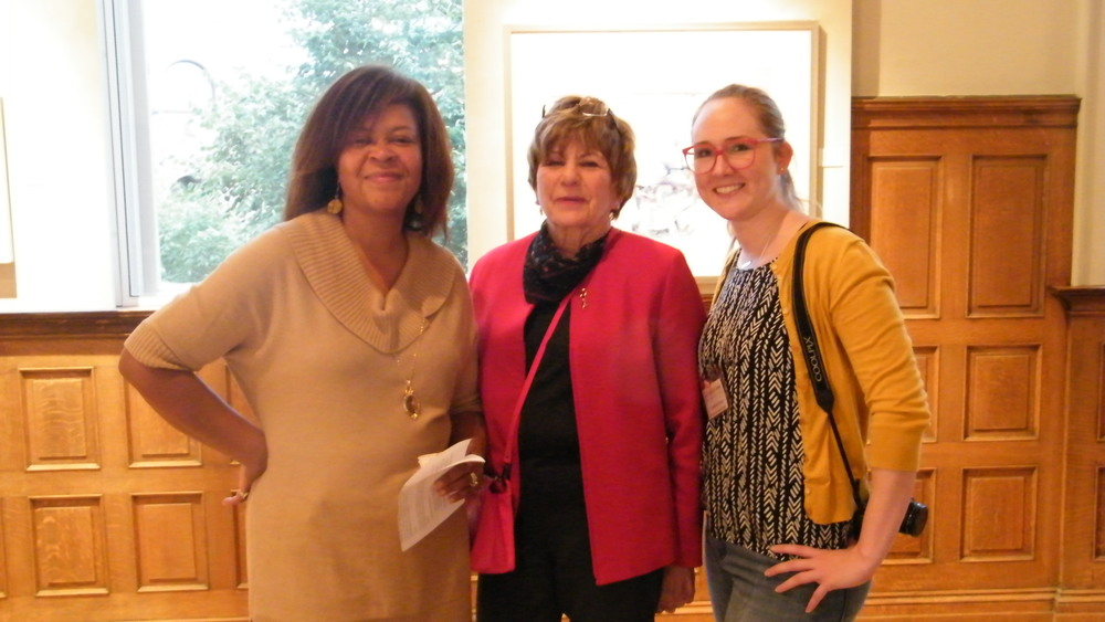 Dara Tolbert Brooks, Karen Cazabon, DSWPS; Stephanie Szmiot, Anton Exhibition and Educational Manager