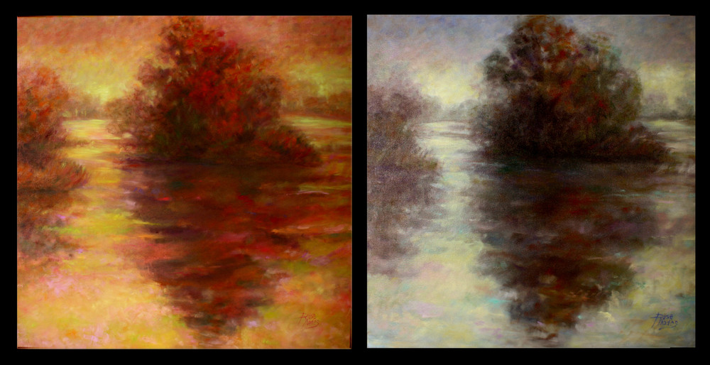 Foggy Morning (diptych)