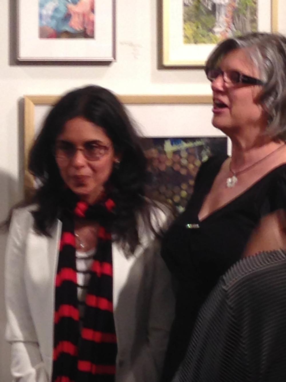 Nina Ashraf Asmi with Jackie Rybinski