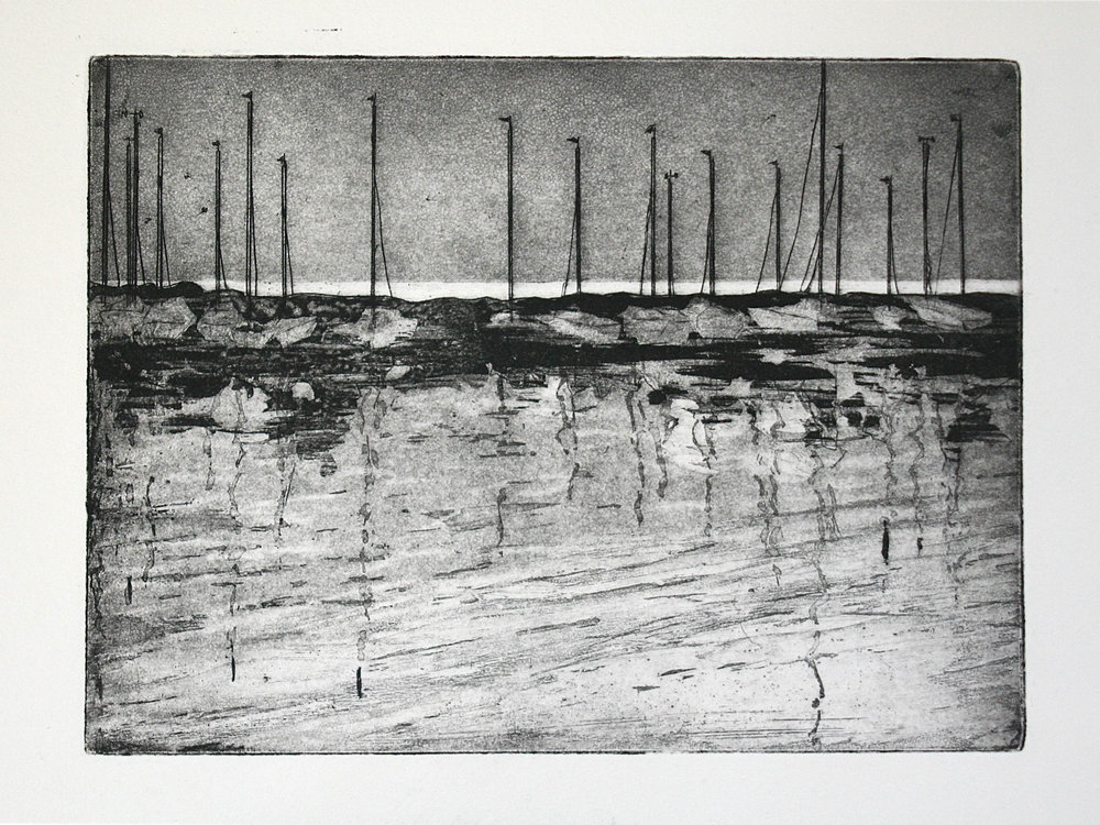 Evening, Port Elgin, intaglio