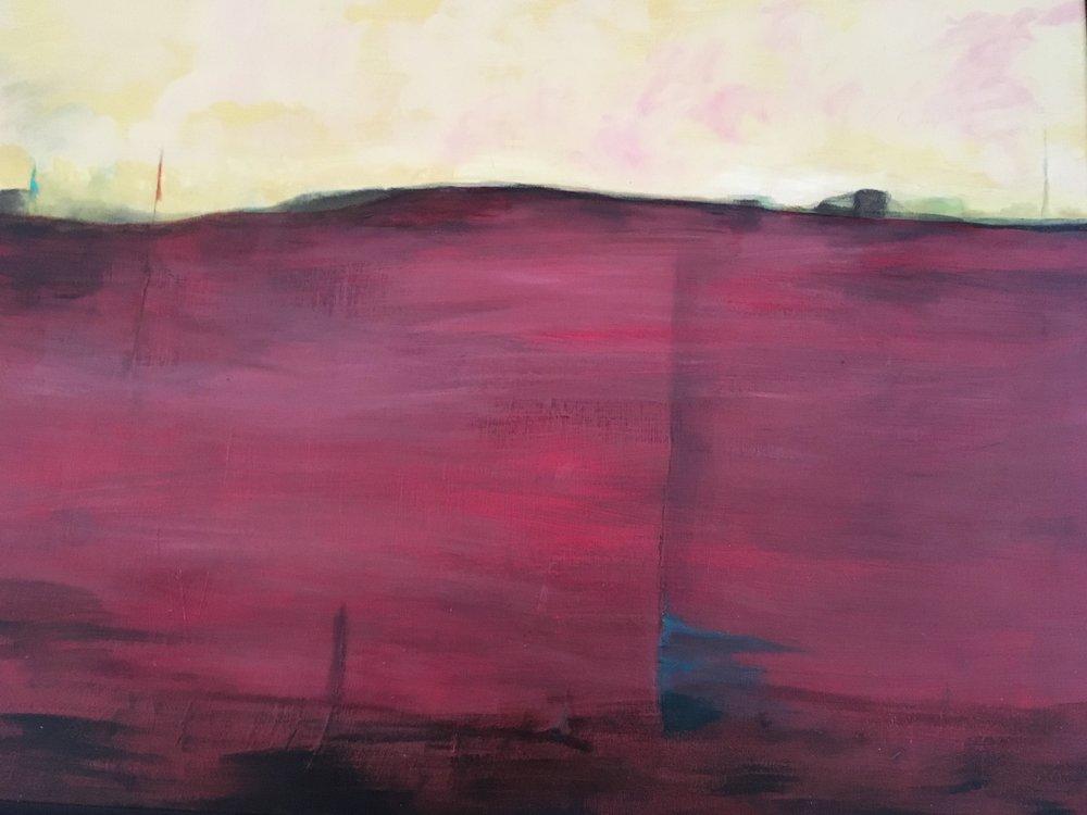 Desert Landscape (mixed media)