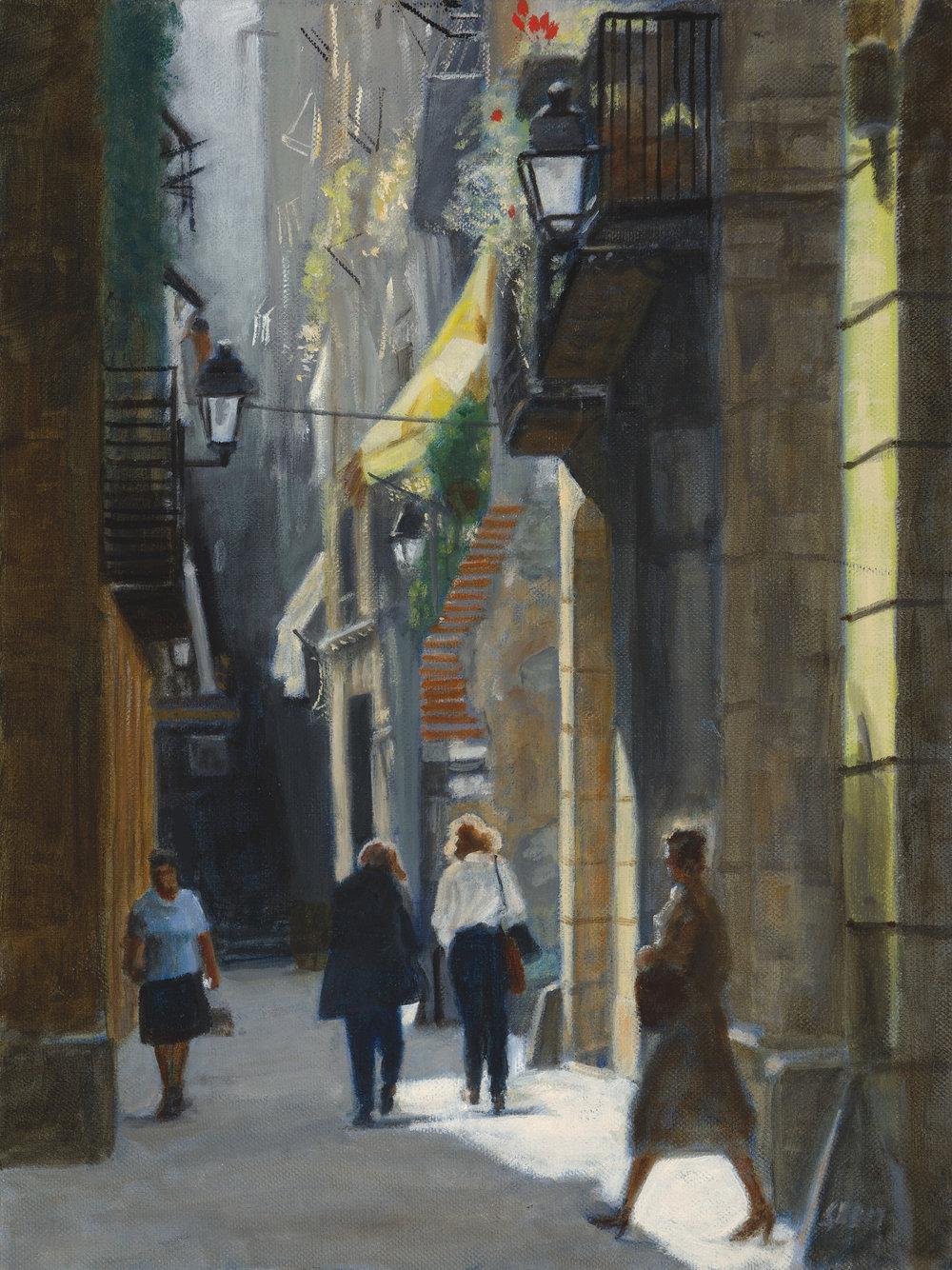 Old Barcelona Street