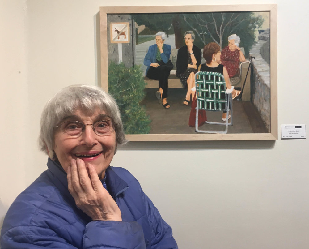Honorable Mention award (for Captured Beauty) winner Julie Sabit. Shown: Italian Ladies