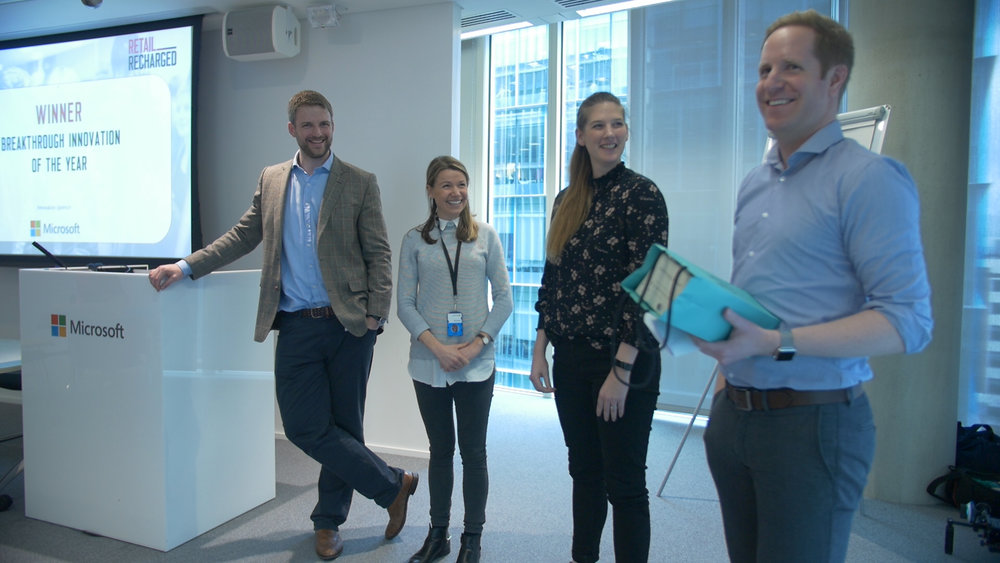 From left to right: Richard Hurtley, MD at Rich Insight, Gemma Shaylor, UK Startup Audience Manager at Microsoft, Michelle Langelaan, Marketing Manager at JC Decaux, Chris Holloman, CEO, Divido.