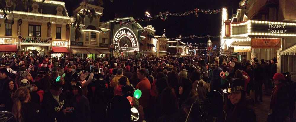 disneyland, new years eve