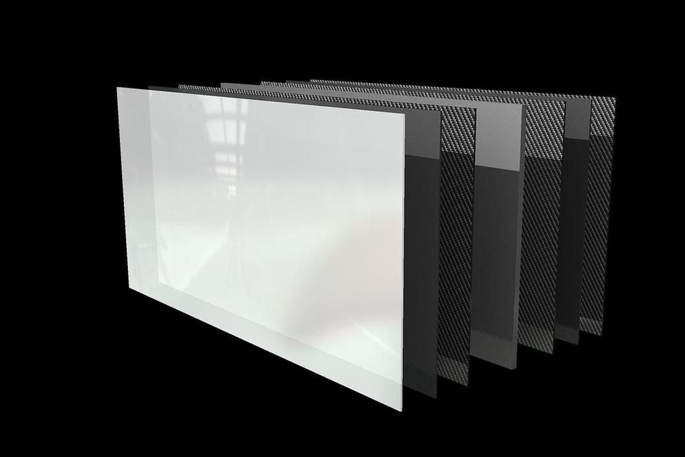 OK, it's not a great image, but it is what it's supposed to be: a graphene radiator.