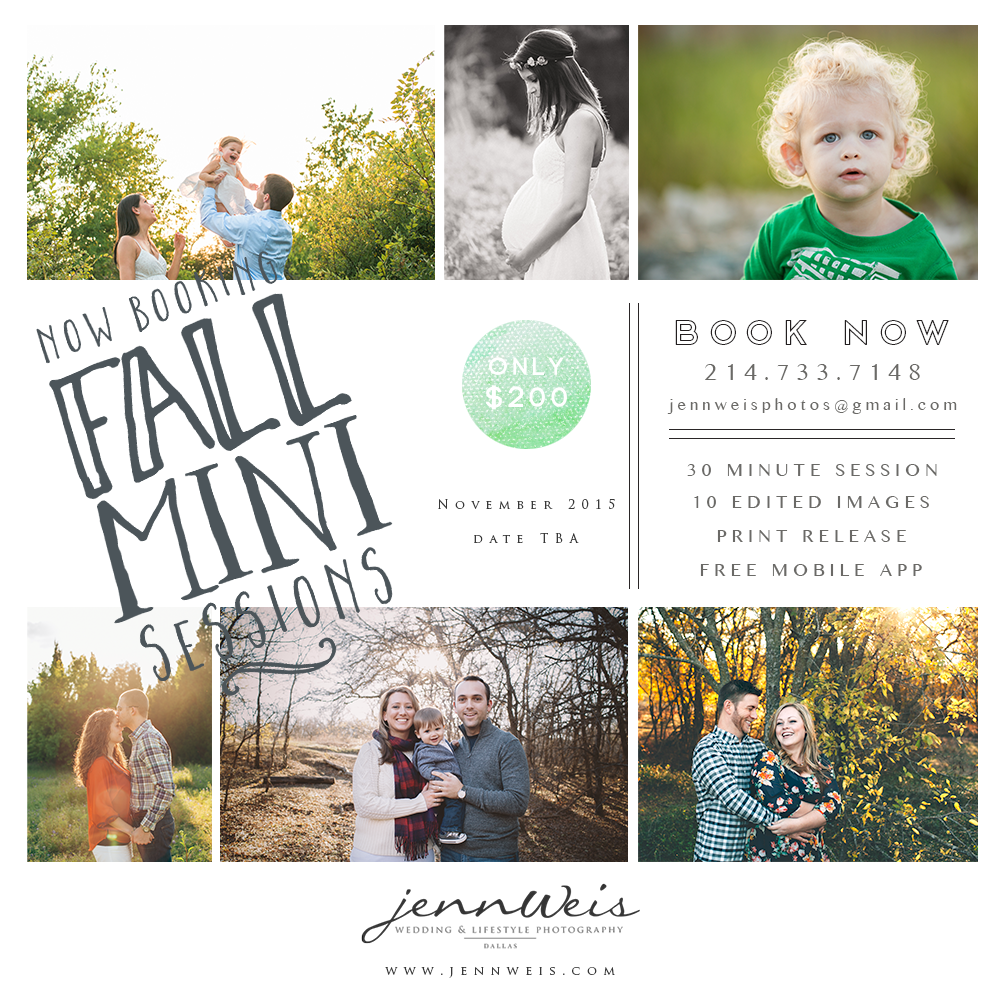 dallas fall mini sessions