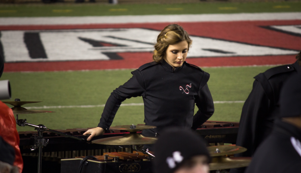 Ashley leading the Front Ensemble of the Marching Southerners