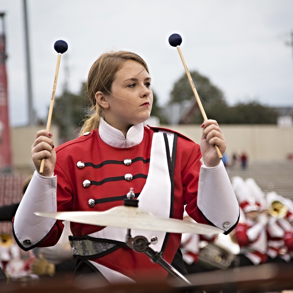 Jillian Early plays vibraphone during the Southerners 2015 performance.