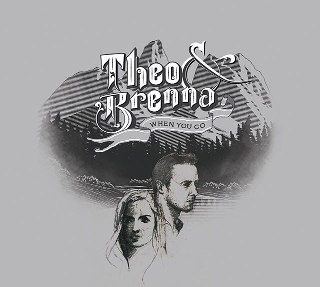 Very excited to work on this album art for an extremely talented bluegrass duo @theoandbrenna - looking forward to helping them in their release of their upcoming album! Check 'em out!  #bluegrass #albumcover #ablumart #originalmusic #nashville #digitalart #sketch #typography #folk #graphicdesign