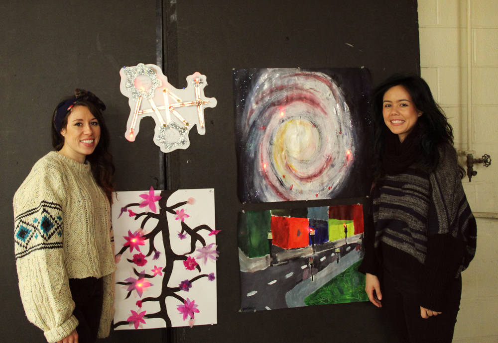 Artwork from the first blink blink workshop.  Left: Joselyn McDonald; Right: Nicole Messier