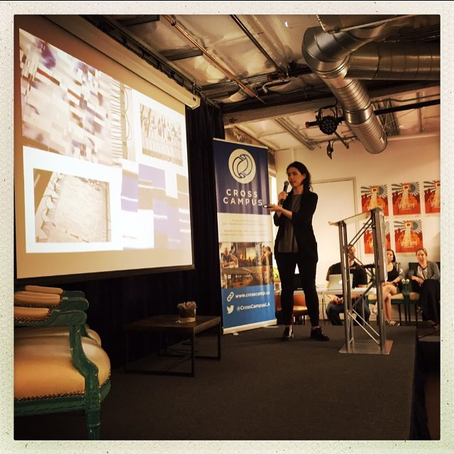 blink blink CEO talking about her story from an #engineer to #entrepreneur! #lifeHacks #NASA #spaceapps #womenintech
