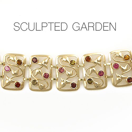 Sculpted Garden Gemstone Bracelet