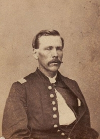 Stephen Wood in his Union Army uniform during the Civil War.