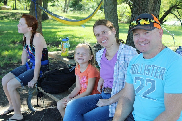 The Borgelt Family enjoys attending Family Camp and the togetherness they feel away from the distractions of modern life.