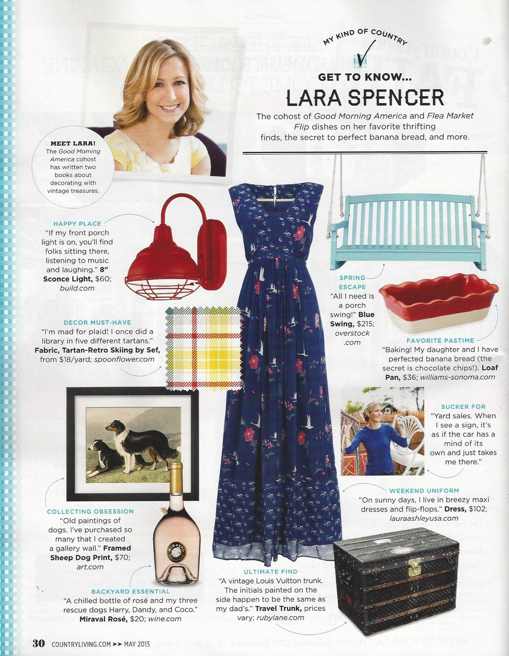 Laura Ashley dress in Country Living Magazine