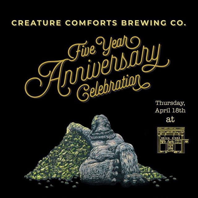 Swipe ➡️ to see what will be pouring this Thursday, April 18th to celebrate our friends at @creaturecomfortsbeer's Five Year Anniversary! We'll also be having a toast from the brewery and a Q&A at 7 PM with all the founders of Creature Comforts. #taplist #ondraught #bottlepour #craftbeer #gabeer #staycurious #anniversary