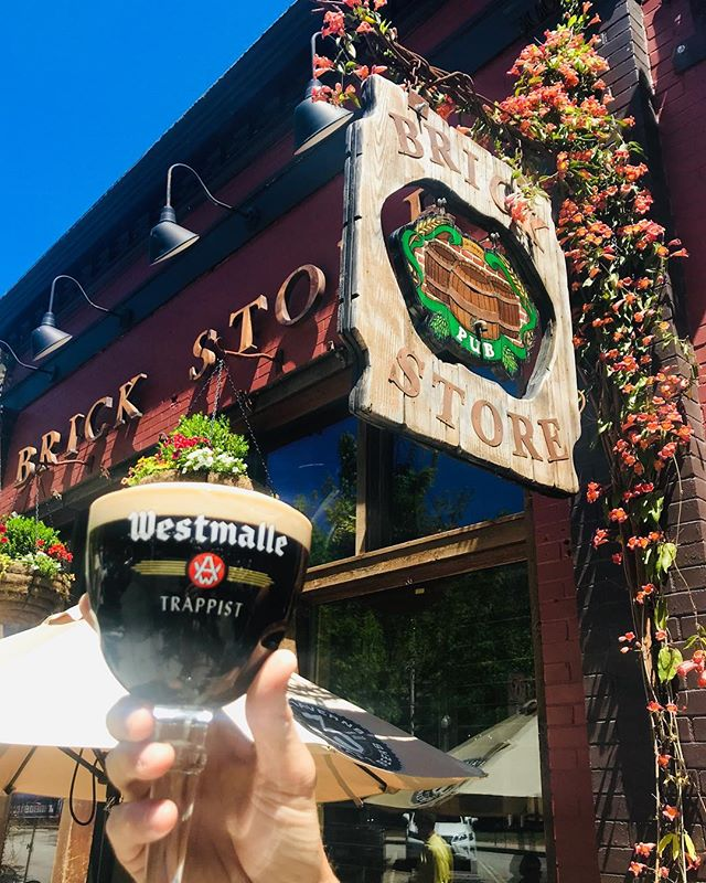 Pouring first on draught in the United States @brickstorepub!  Westmall Trappist Dubbel!! #trappist #beer #belgianbeer #spring #getitherefirst