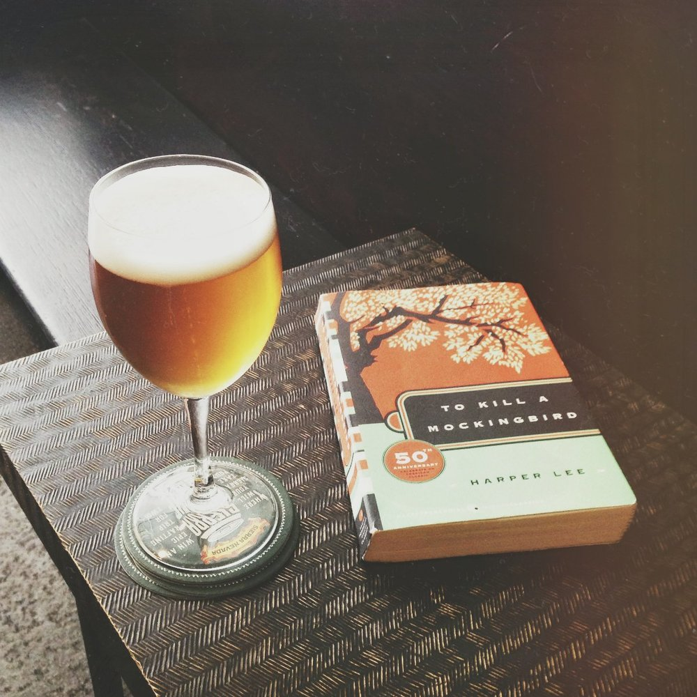 So many times I was without plans and my friends were busy, so I would head to a bar and read. This was the To Kill A Mockingbird version I discovered at Moe's!