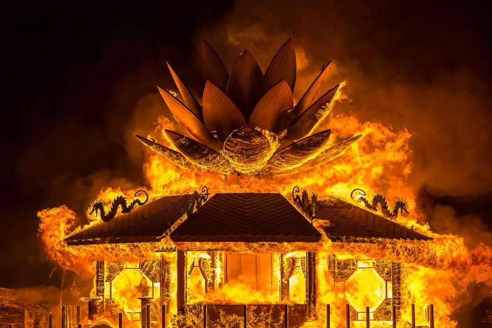 The Mazu Temple burn 2015
