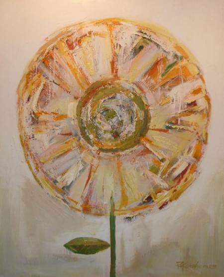 "Ron Ketchum, Globe Flower, Acrylic on canvas, 55""x44"" Price $4200"
