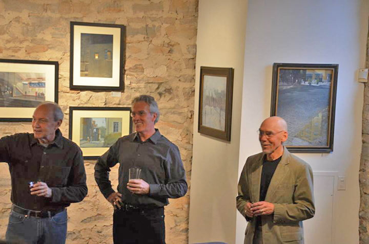 Opacity in Gouache Gallery talk by the artists  Robert Heischman, Bob Dorsey, Chris Baker at the Wine  Reception for members