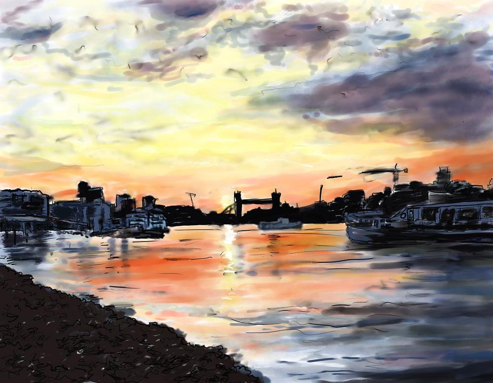 "Marrianne Oloughlin, "" Through David's Eyes"", Digital Painting,""11 x 14"" $650"