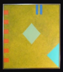 "Tarrarant Clements, ""DD - 103"",Oil on Canvas,    30"" x 26"", $1150"