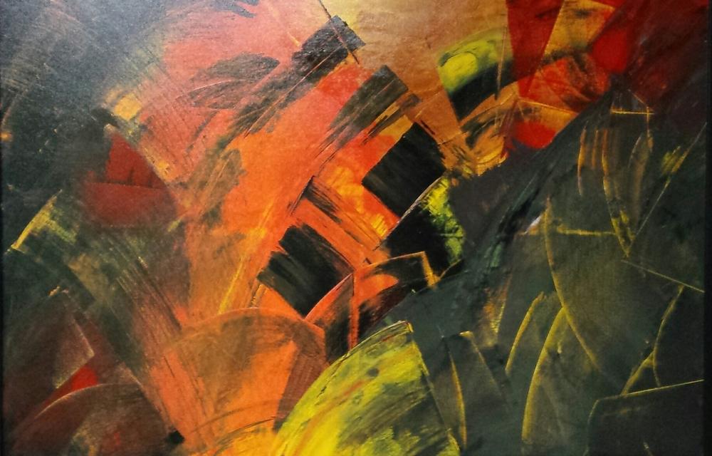 "Carlos Bahr, ""Orange Touches"", Acrylic on canvas   $215"