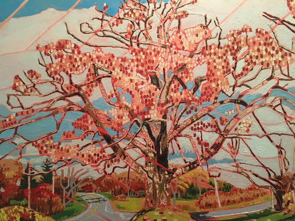 "Joseph Tarantelli, ""Fall Oak"", Oil on Canvas, 30"" x 40"", $600"