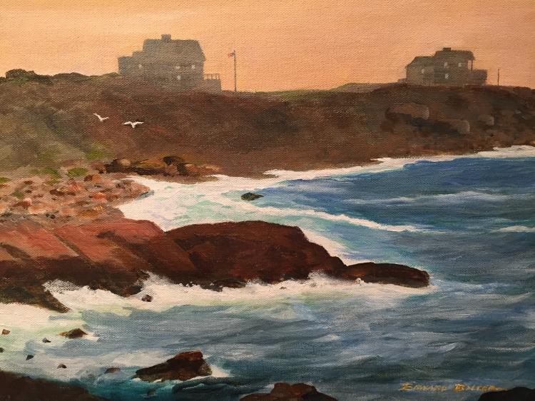 "Edward Balcer , Rocky Coast, Oil, 16""x20"""