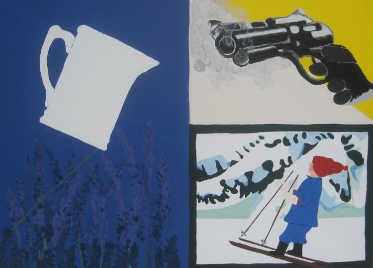 "Nils Casperson,  ""Gun"", Acrylic, $300"