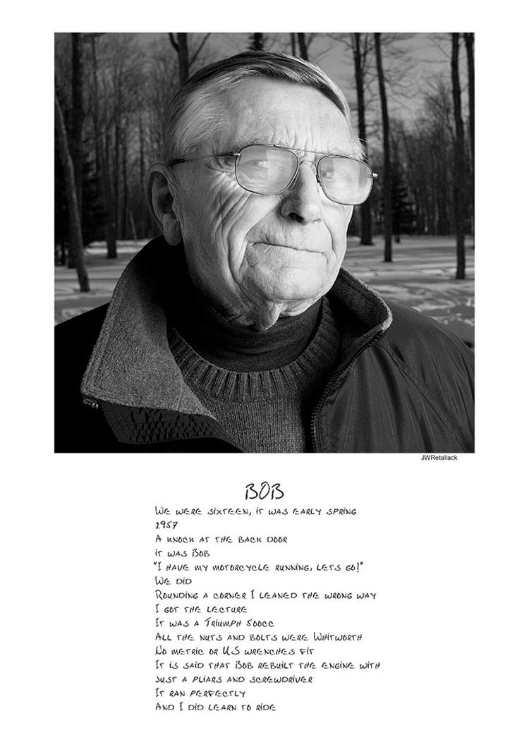 """John Retallack,  """"Bob""""  ,  Photography, $300"""
