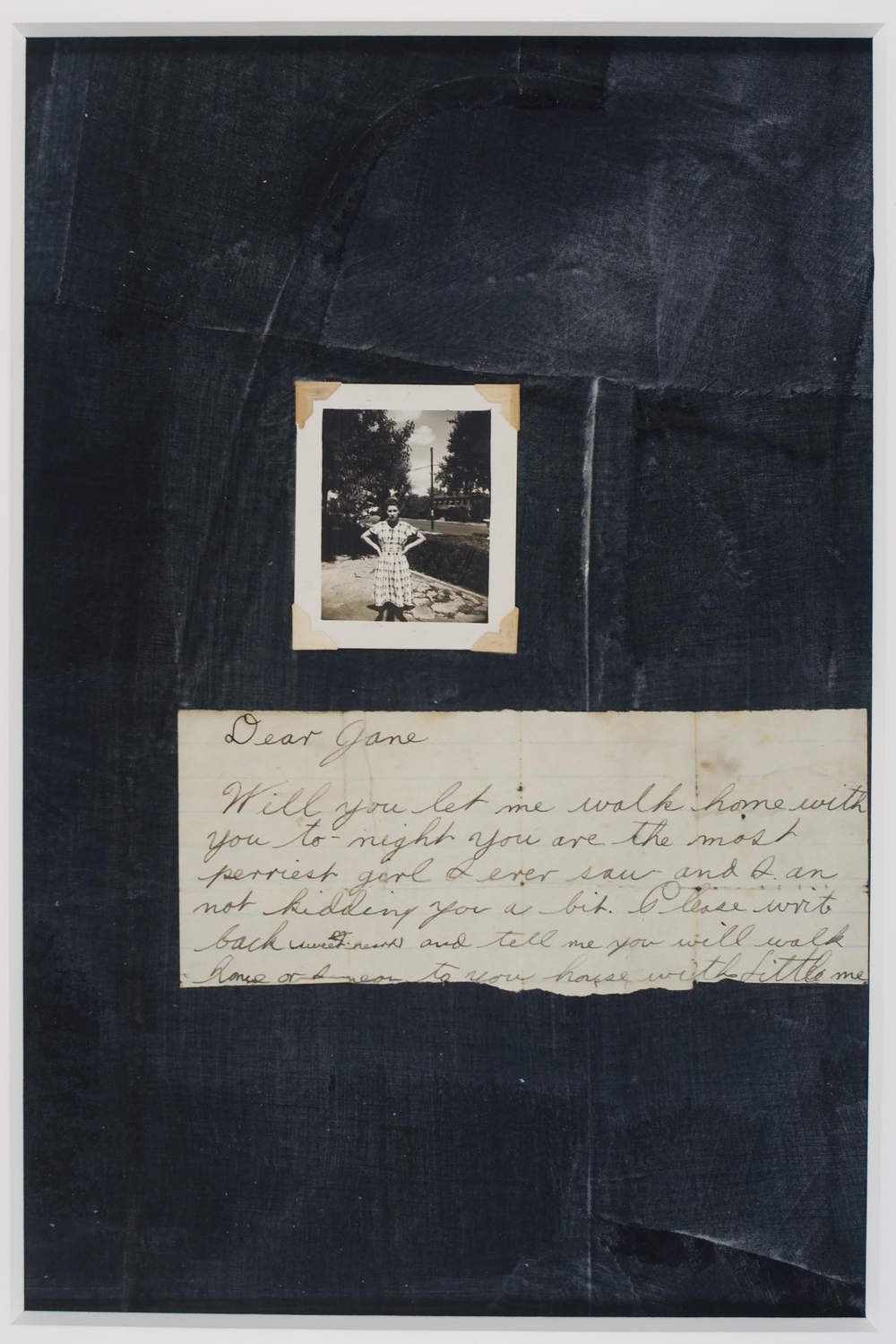 "Sidney Merkel Roepke, ""Dear Jane"",                    Fabric, Paper Photo,  $350"